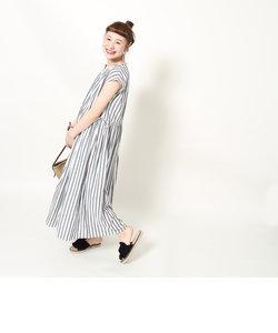 【『リンネル』6月号掲載・CM着用アイテム・Market】ストライプマキシワンピース