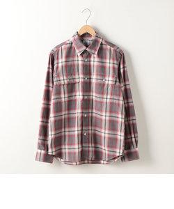 オンブレーチェック レギュラーシャツ
