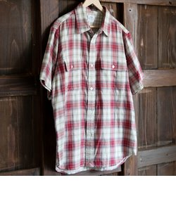 ダブルガーゼオンブレーチェックシャツ
