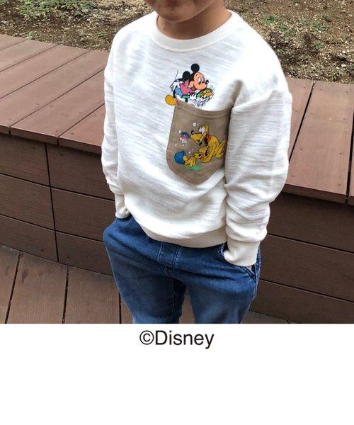 【coen キッズ / ジュニア】コーエン限定Disney(ディズニー)MICKEY(ミッキー)ワークポケットスウェットプルオーバー(トレーナー)