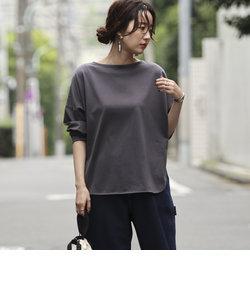 【WEB限定カラー】ボートネックシャツテールカットソー#