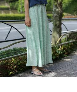 【WEB限定】プリントタックロングスカート#