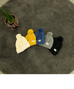 【coen キッズ / ジュニア】ケーブルポンポンワッチ(ニット帽)