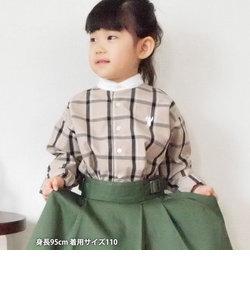 【セレモニー対応・coen キッズ / ジュニア】ウィンドーペーンクレリックシャツ/バンドカラーシャツ