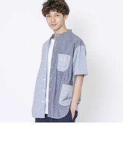 SMITH'S別注バンドカラー半袖シャツ#