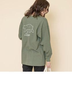 【WEB限定】【Ryo Kaneyasu】コーエンベアバックプリントTシャツ(ロングスリーブ/ロンT)