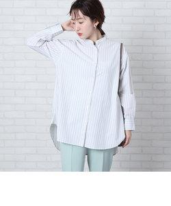 ブロードバンドカラーロングシャツ(バンドカラーシャツ)#