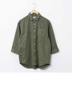 パッチワークオーバーダイ7分袖シャツ