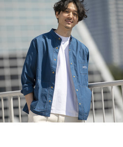 MEI(メイ)別注ストレッチオックススナップボタンバンドカラーシャツ(その他⇒WEB限定カラー)