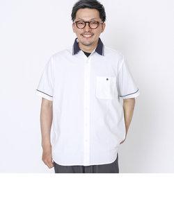 ツイルラインリブシャツ