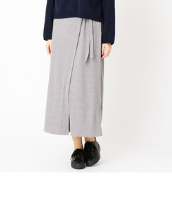 〔ONIGIRI〕ラップ風リブスカート
