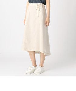〔ONIGIRI〕 リネン レースアップスカート