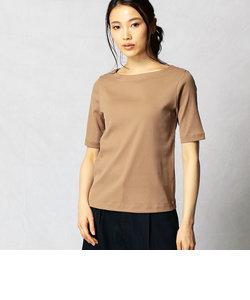 ギザコットンフライス ボートネックTシャツ
