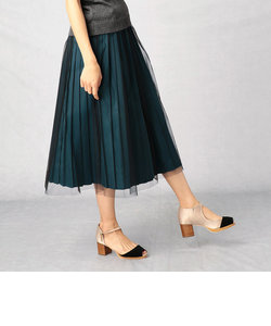【3WAY】 チュール×プリーツスカート