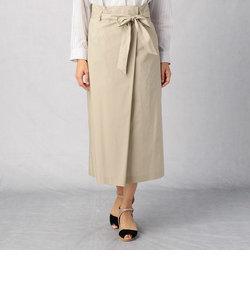 ラップ風 ウエストリボン スカート