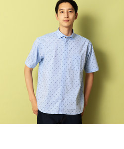 ホリゾンタル カラー 半袖 シャツ