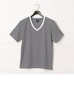 Vネック ボーダー Tシャツ