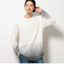 レオパードグラデーション長袖Tシャツ