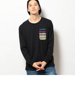 空紡天竺ネイティブポケット長袖Tシャツ