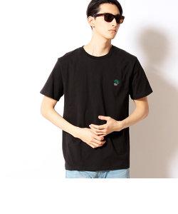 ヤシ柄ワンポイント刺繍半袖Tシャツ