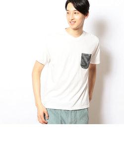 ボタニカルポケット付き 半袖Tシャツ