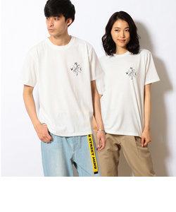 モノトーンフォト バックプリント半袖Tシャツ