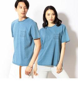 インディゴエンボス 半袖Tシャツ