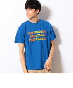 グラデーションフロッキー メッセージプリントTシャツ