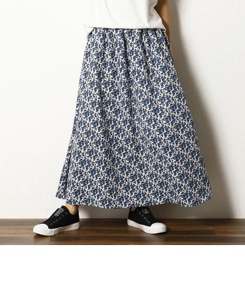 小花柄 マキシ フレアスカート