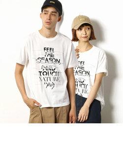 メッセージプリント クルーネックTシャツ