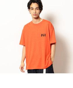 バックプリント 半袖クルーネックTシャツ