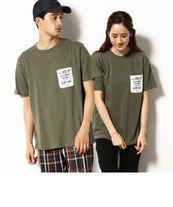 メッセージプリント入り ポケット 半袖Tシャツ