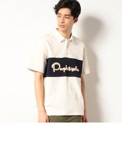 サガラ刺繍 半袖 ラガーシャツ