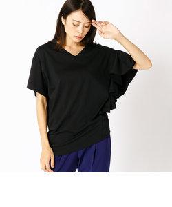 アシンメトリーフレアーTシャツ