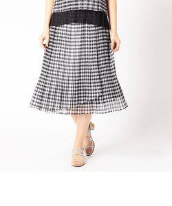 巻き風プリーツスカート