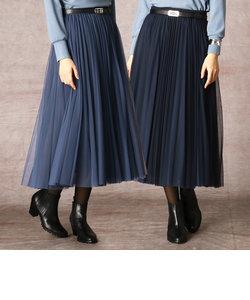 ソフトチュール プリーツスカート
