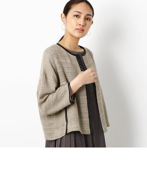 【ウォッシャブル】からみ織り 羽織りジャケット