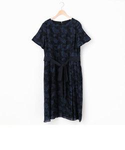 ジャガード半袖ドレス