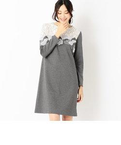 アネモネ柄カットワーク刺繍ドレス