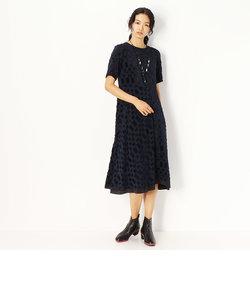 市松柄カットジャガードドレス