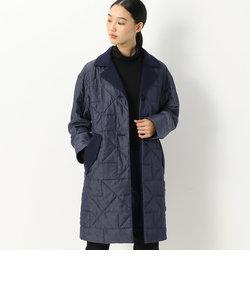 デニム薄中綿キルティングコート