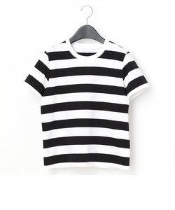 かぶワッペン付きボーダーTシャツ