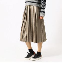 ライトレザー(フェイク)プリーツスカート