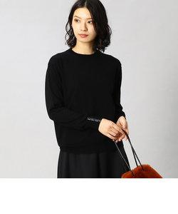 竹ビーズ手刺繍 ニット プルオーバー