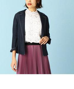 デニム調 コンバーチブルカラーシャツジャケット
