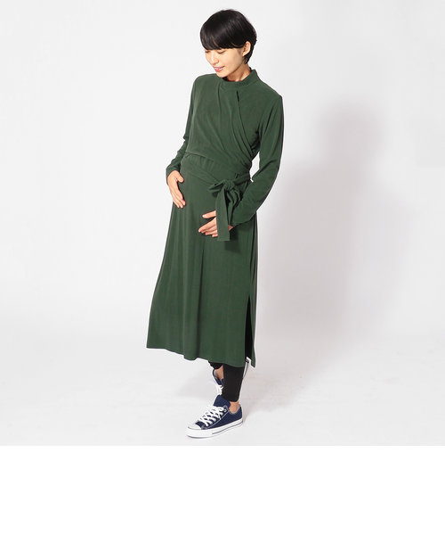 ジャージロングドレス(マタニティ)