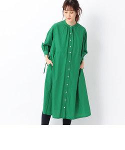 (マタニティ)マオカラー シャツドレス