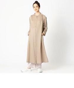 〔マタニティ〕サテン ロングシャツドレス
