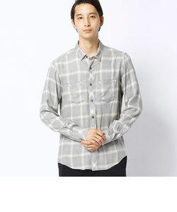 オンブレーチェックシャツ
