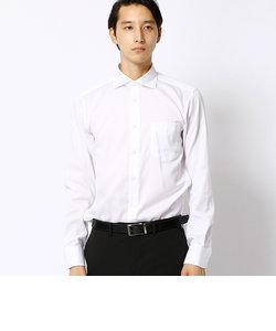形態安定ホワイトドビーシャツ